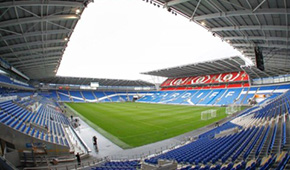 Cardiff City Stadium vu des tribunes